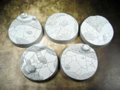 40mm Beveled Bases - Ancient Sands