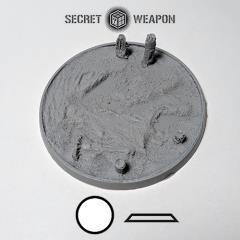 80mm Beveled Base - Blasted Wastelands