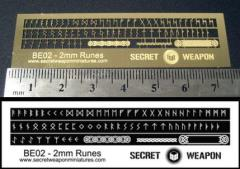 Brass Etch Letters - 2mm Runes