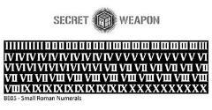 Brass Etch Letters - Roman Numerals