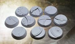 32mm Beveled Bases - Ghost Stone