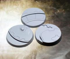 50mm Beveled Bases - Ghost Stone