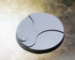 60mm Beveled Base #1 - Ghost Stone