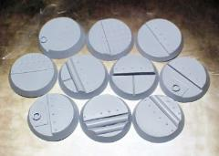 32mm Beveled Bases - Iron Deck