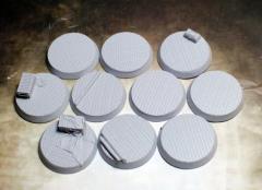 32mm Beveled Bases - Steel Plating
