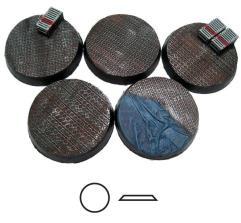 40mm Beveled Bases - Steel Plating