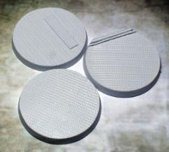 50mm Beveled Bases - Steel Plating
