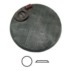 60mm Beveled Base #1 - Steel Plating