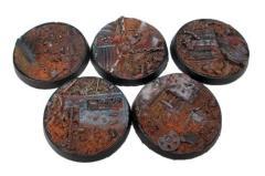 40mm Beveled Bases - Scrap Yard