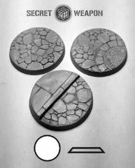 50mm Beveled Bases - Town Square #1