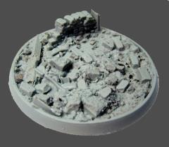 60mm Beveled Base #1 - Urban Rubble