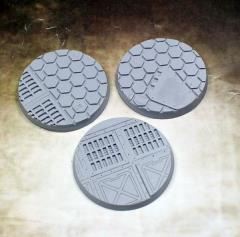 50mm Beveled Bases - Warp Core (3)