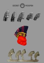Large Roman Style Helmet Crests
