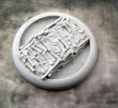 50mm Round Lip Base #4 - Bone Fields