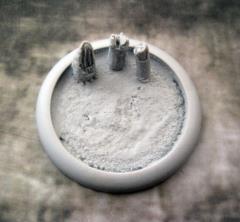 50mm Round Lip Base #2 - Blasted Wastelands