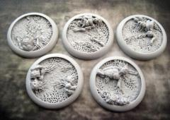 40mm Round Lip Bases - Corpse Fields