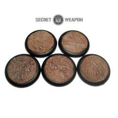 40mm Round Lip Bases - Desert Mesa