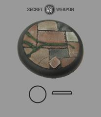 50mm Round Lip Base #1 - Flagstone