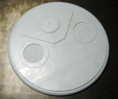 120mm Round Lip Base #1 - Iron Deck