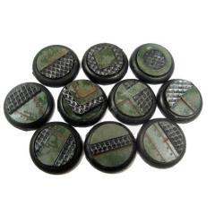30mm Round Lip Bases - Iron Deck