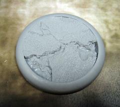 50mm Round Lip Base #4 - Lava Flow