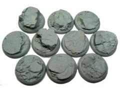 30mm Round Lip Bases - Rocky Bluff
