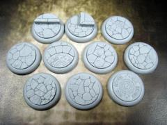 30mm Round Lip Bases - Town Square