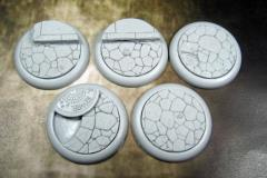 40mm Round Lip Bases - Town Square