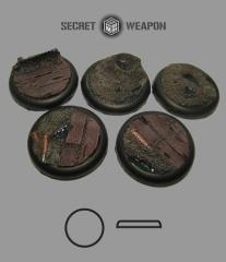 40mm Round Lip Bases - Trench Works