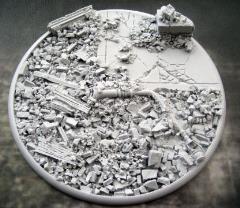 120mm Round Lip Base - Urban Rubble