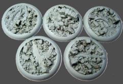40mm Round Lip Bases - Urban Rubble