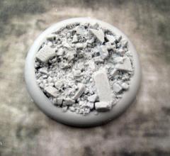 50mm Round Lip Base #2 - Urban Rubble