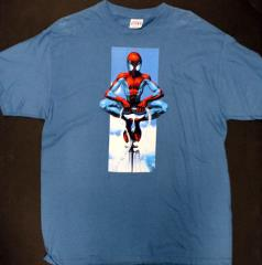 Spider-Man Atop a Flagpole T-Shirt (L)