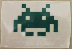 Space Invader Window Cling