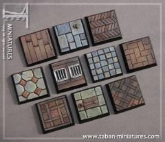 25mm Classic Castle Floor - Square Bases (10)
