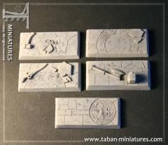 25x50mm Dwarven Hall - Rectangular Bases (5)