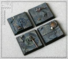 40mm Dwarven Hall - Square Bases (4)