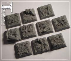 20mm Forest Ground - Square Bases (10)