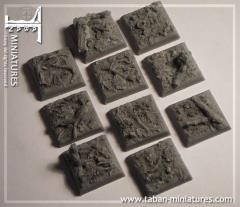 25mm Forest Ground - Square Bases (10)