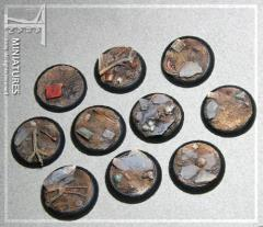30mm ISC/Techno Round Bases (10)