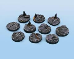 25mm Chaotic Magma - Round Bases (10)