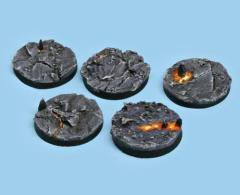 40mm Chaotic Magma - Round Bases (5)