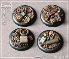 40mm Machine Scrapyard - Round Bases w/Straight Edges (4)