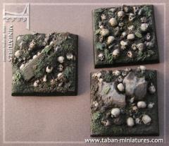 40mm Skull Field - Square Bases (4)