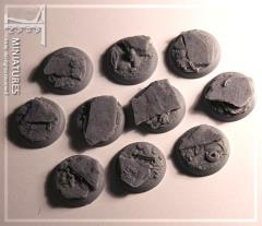 25mm Slate Ground - Round Bases w/Round Edges (10)