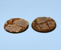 65mm Slate Ground - Round Bases (2)