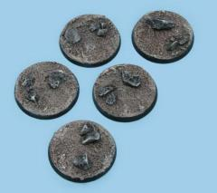 40mm Sandy Wasteland - Round Bases (5)