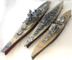 WWII Ship Collection - 3 Ships w/Broken Components