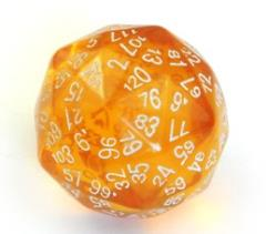d120 Translucent Amber w/White