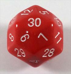 D30 Red w/White